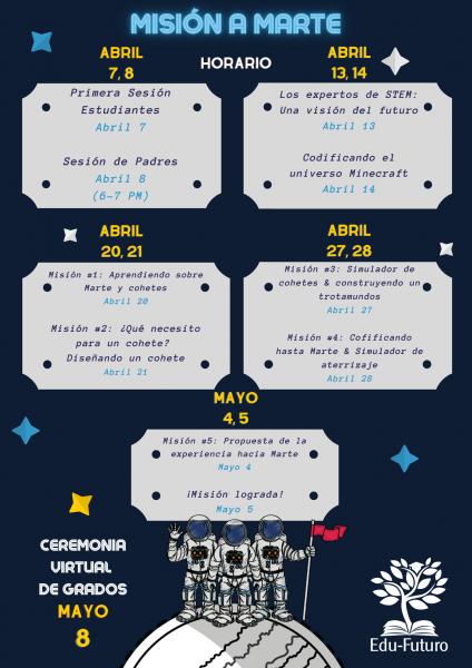 STEM Schedule Spanish