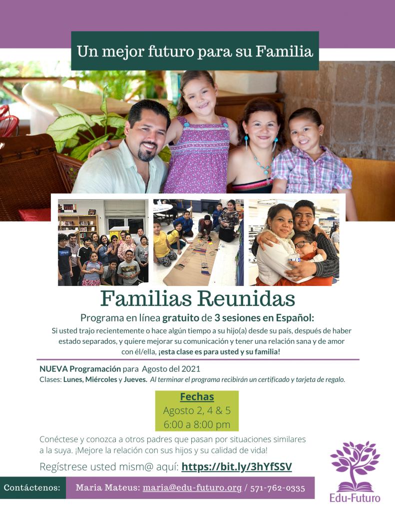 Families Reunite Virtual - August-2021