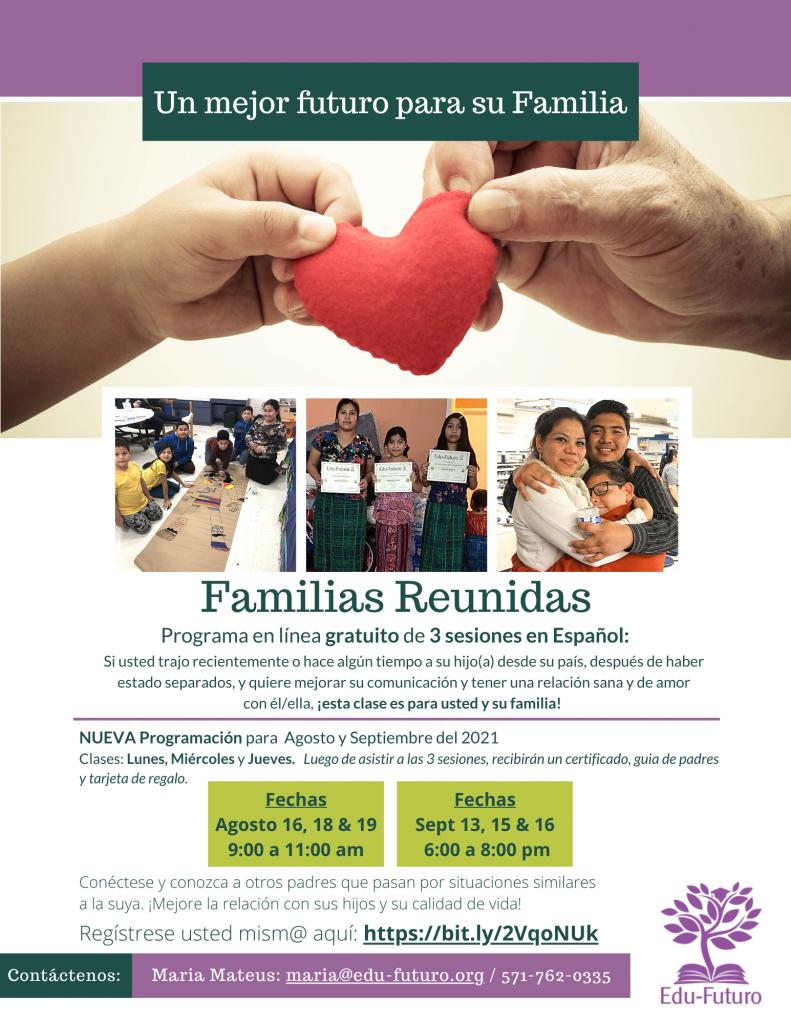 Families Reunite Virtual - August & Sept, 2021
